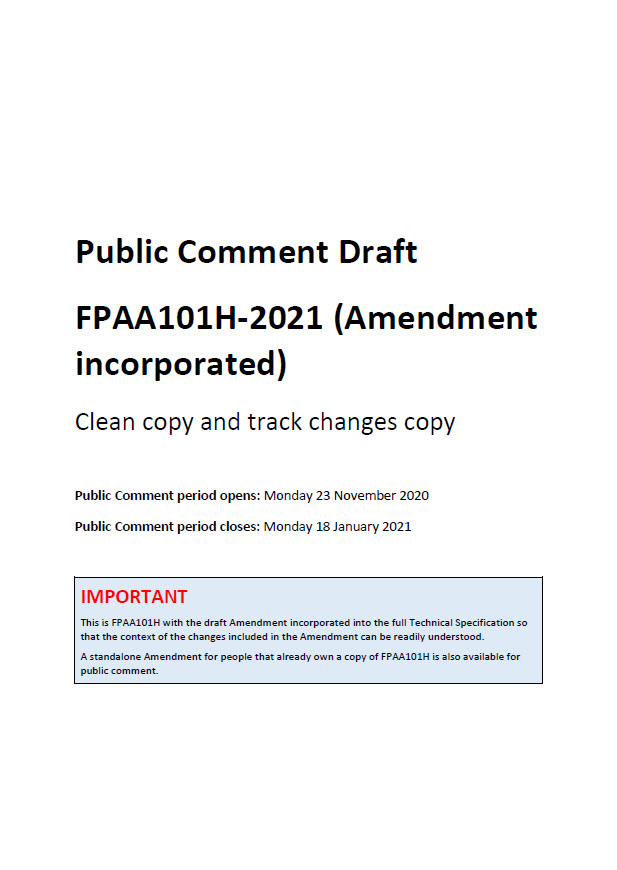 PCD - FPAA101H-2021 Amendment (cover image)